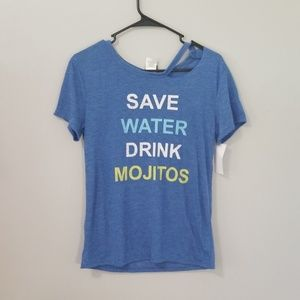 Tops - NWT Size M Save Water Drink Mojitos BlueT-Shirt